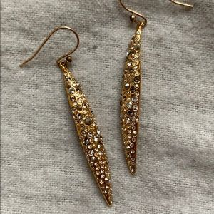 Alexis Bittar gold drop earrings